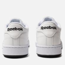 Мужские кроссовки Reebok Club C 85 MU White/Black/Toxic Yellow фото- 2