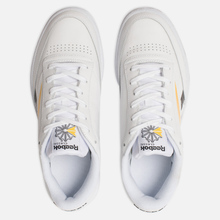 Мужские кроссовки Reebok Club C 85 MU White/Black/Toxic Yellow фото- 1
