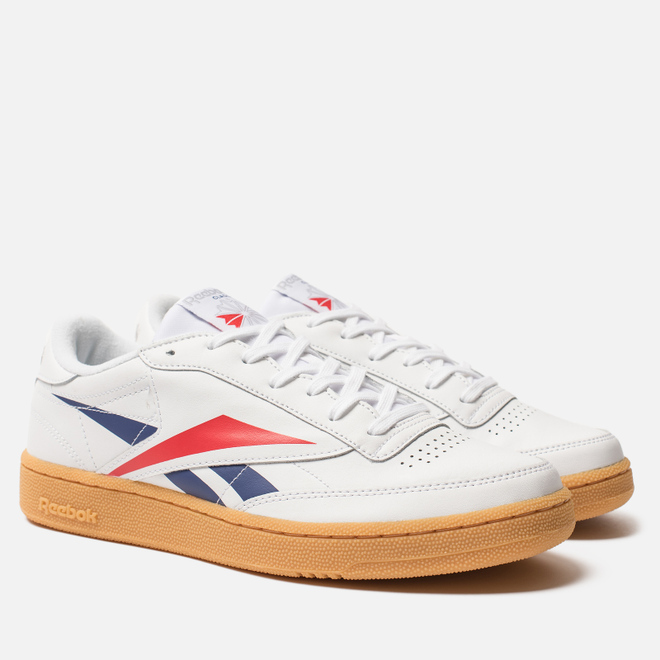 Мужские кроссовки Reebok Club C 85 MU White/Scarlet/Phantom Blue