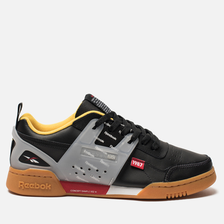 Мужские кроссовки Reebok Workout Plus Alter The Icons Black/Nuclear Yellow/Snowy Grey/Gum