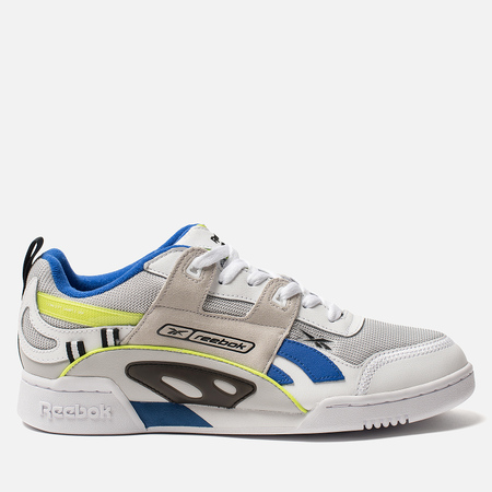 Мужские кроссовки Reebok Workout Plus ATI 90S White/Black/Neon Lime