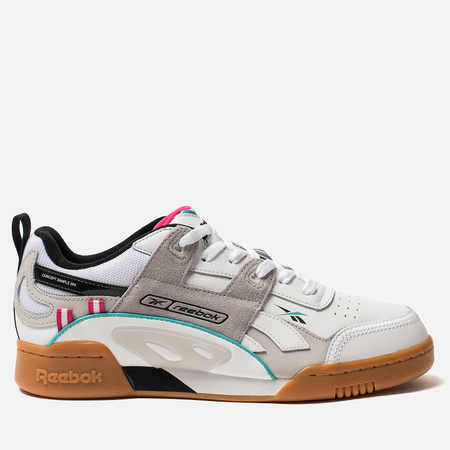Мужские кроссовки Reebok Workout Plus ATI 90S White/Teal/Black/Grey/Pink