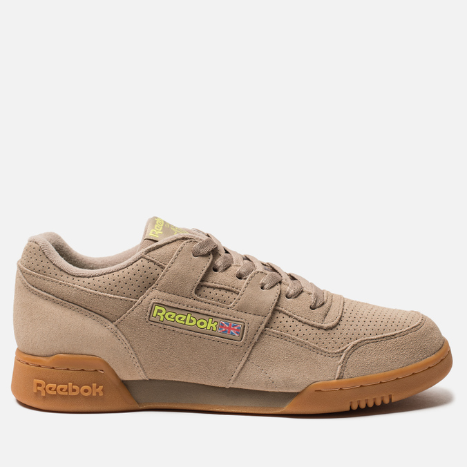 Мужские кроссовки Reebok Workout Plus MU Sand Beige/Neon Lime