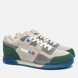 Мужские кроссовки Reebok x Garbstore Workout Plus Low Warm Grey/Cool Grey/Off White/Green Ice