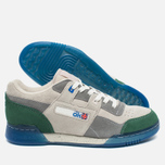 Мужские кроссовки Reebok x Garbstore Workout Plus Low Warm Grey/Cool Grey/Off White/Green Ice фото- 2