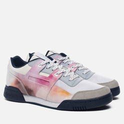 Кроссовки Reebok x Artists For Humanity Workout Plus White/Solid Grey/Stone Wash