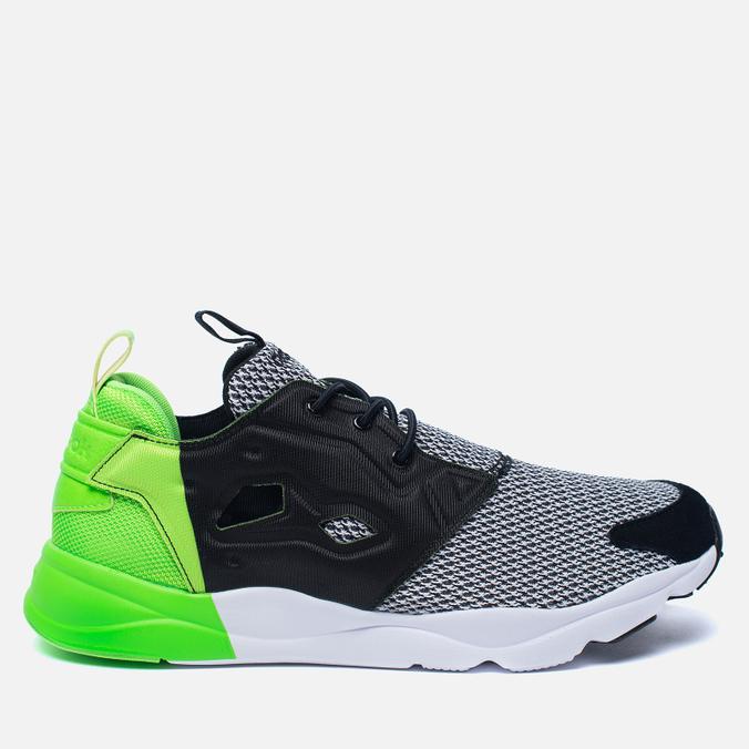 Мужские кроссовки Reebok x Black Scale Furylite Black/White/Solar Green