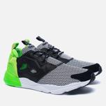 Мужские кроссовки Reebok x Black Scale Furylite Black/White/Solar Green фото- 2