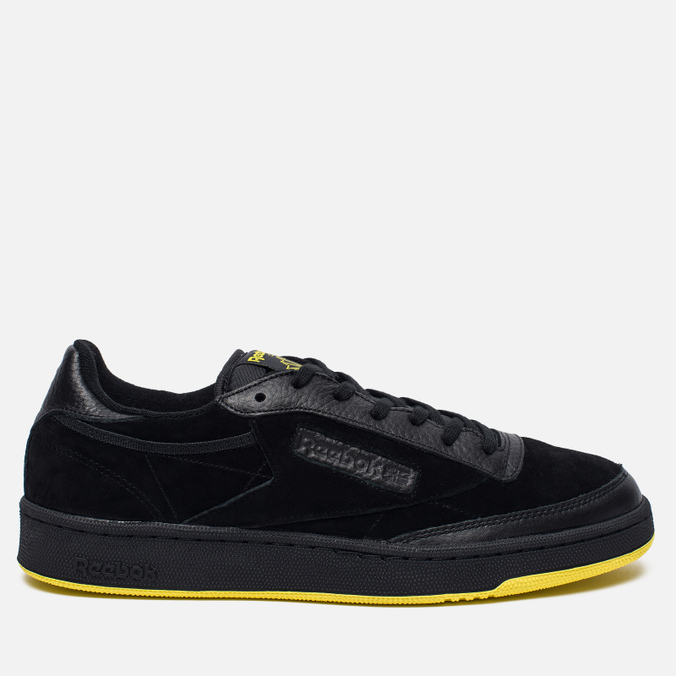 Мужские кроссовки Reebok x Distinct Life Club C 85 Inventor Pack Black/Bright Yellow/Scarlet