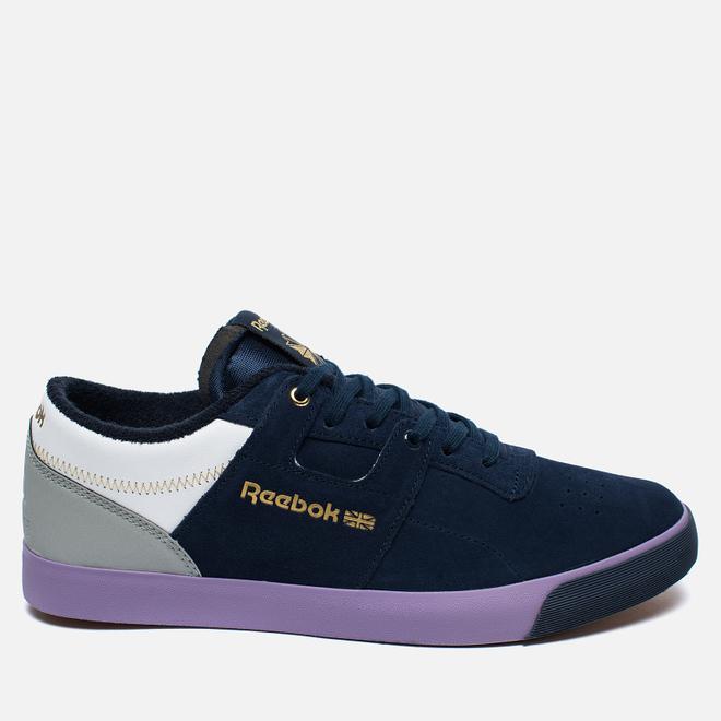 Мужские кроссовки Reebok x Mita Sneakers x Flaph Workout Low Clean Navy/Violet/White