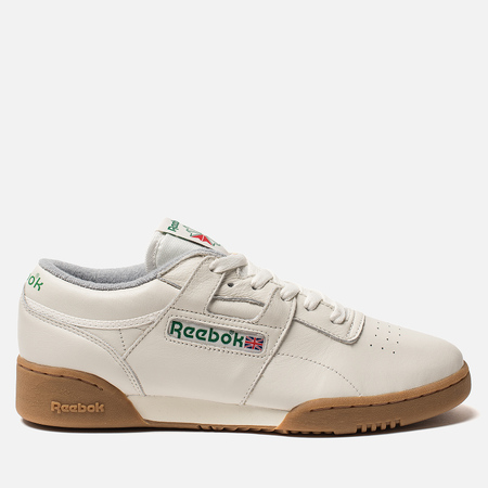 Мужские кроссовки Reebok x Oi Polloi Workout Clean MU Chalk/Vegetal Green/White/Collegiate Royal/Core Red