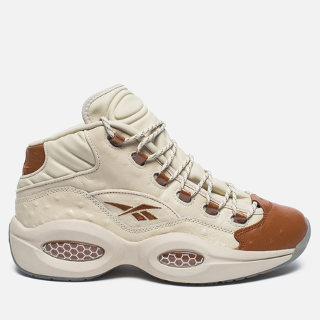 Мужские кроссовки Reebok x Sneakersnstuff Question Mid Paper White/Brown Malt
