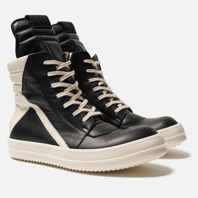 Мужские кроссовки Rick Owens Geobasket Black/Milk