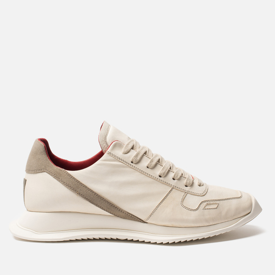 Мужские кроссовки Rick Owens New Vintage Runner Lace Up Parchment Combo Milk/Pearl
