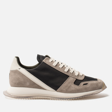 Мужские кроссовки Rick Owens New Vintage Runner Lace Up Tech Canvas/Velour Suede Black/Clear Sole фото- 3