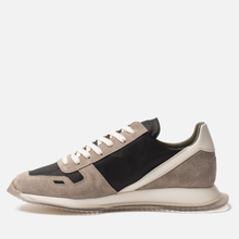 Мужские кроссовки Rick Owens New Vintage Runner Lace Up Tech Canvas/Velour Suede Black/Clear Sole фото- 5