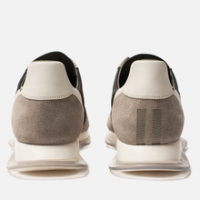 Мужские кроссовки Rick Owens New Vintage Runner Lace Up Tech Canvas/Velour Suede Black/Clear Sole фото- 2