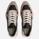 Мужские кроссовки Rick Owens New Vintage Runner Lace Up Tech Canvas/Velour Suede Black/Clear Sole фото- 5