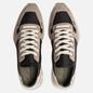 Мужские кроссовки Rick Owens New Vintage Runner Lace Up Tech Canvas/Velour Suede Black/Clear Sole фото - 1