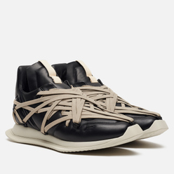 Мужские кроссовки Rick Owens Tecuatl Maximal Runner Black/Pearl Light Grey
