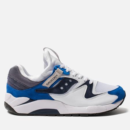 Мужские кроссовки Saucony Grid 9000 Premium Suede White/Blue
