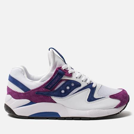 Мужские кроссовки Saucony Grid 9000 Premium Suede White/Purple