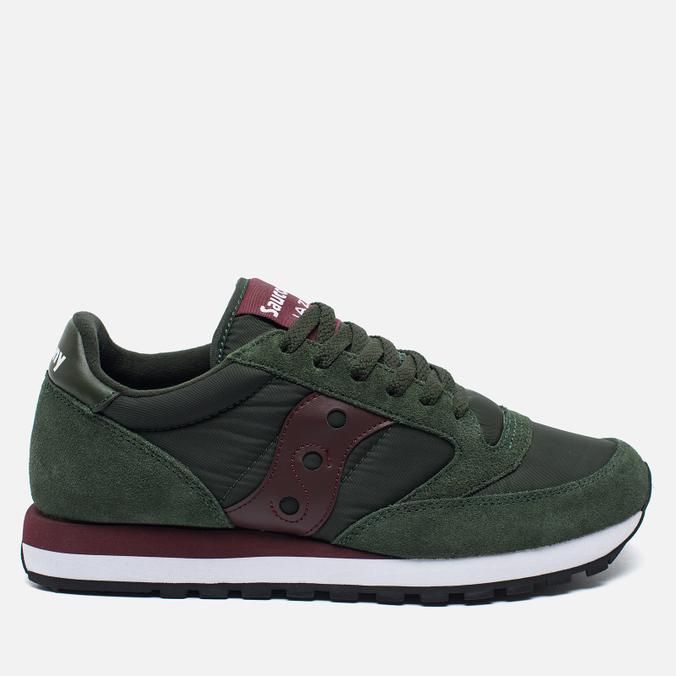 Saucony Jazz Original Men's Sneakers Green/Burgundy