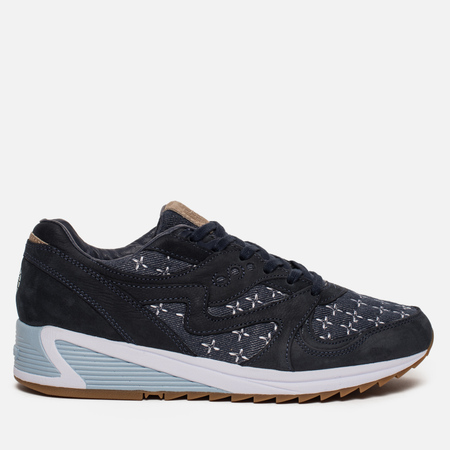 Мужские кроссовки Saucony x Up There Grid 8000 Sashiko Navy/White/Brown