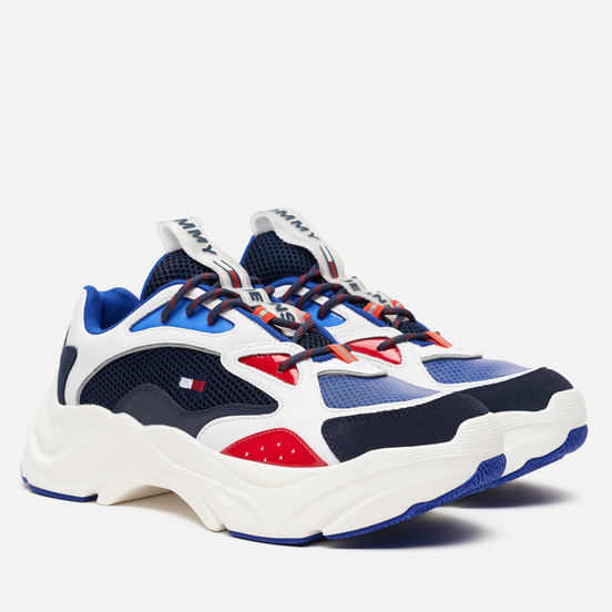 Мужские кроссовки Tommy Jeans Chunky Colour-Blocked Trainers Red/White/Blue
