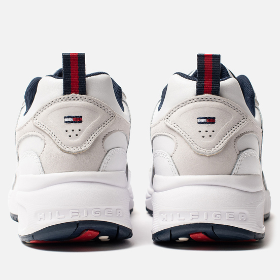 Мужские кроссовки Tommy Jeans Heritage Logo Trainers White