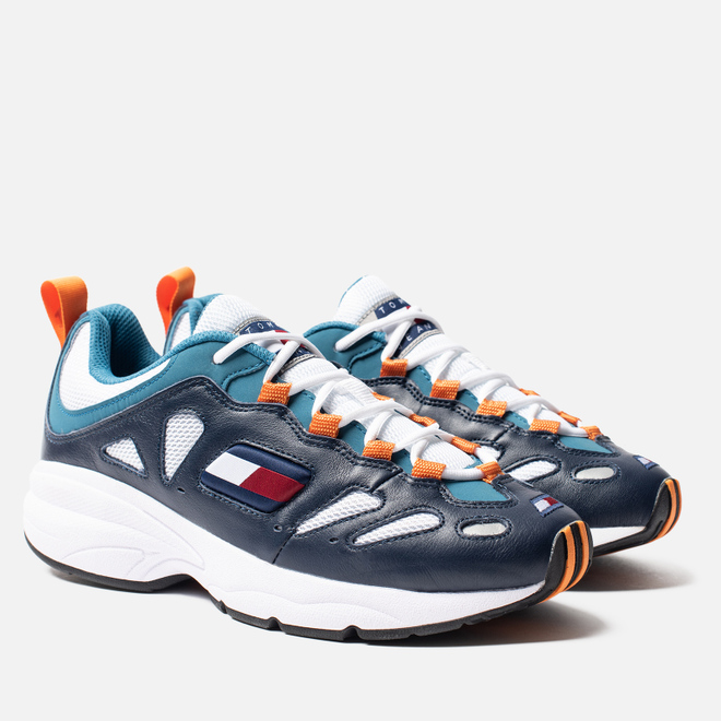 Мужские кроссовки Tommy Jeans Retro Trainers Ink/White/Saxony Blue/Russet Orange