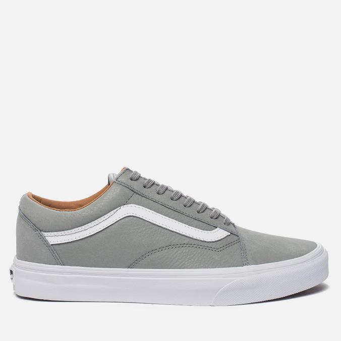 Мужские кеды Vans Old Skool Premium Leather Wild Dove/True White