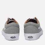 Мужские кеды Vans Old Skool Premium Leather Wild Dove/True White фото- 3