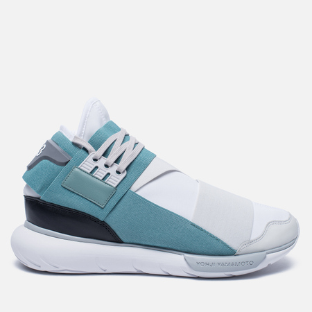 Мужские кроссовки Y-3 Qasa High Crystal White/Vapour Steel/Core Black
