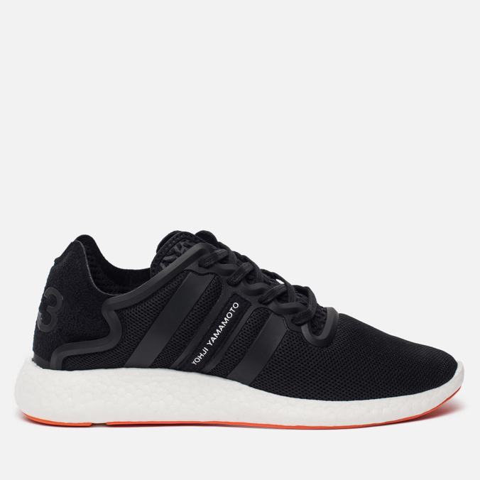 Мужские кроссовки Y-3 Yohji Run Core Black/Core Black/White