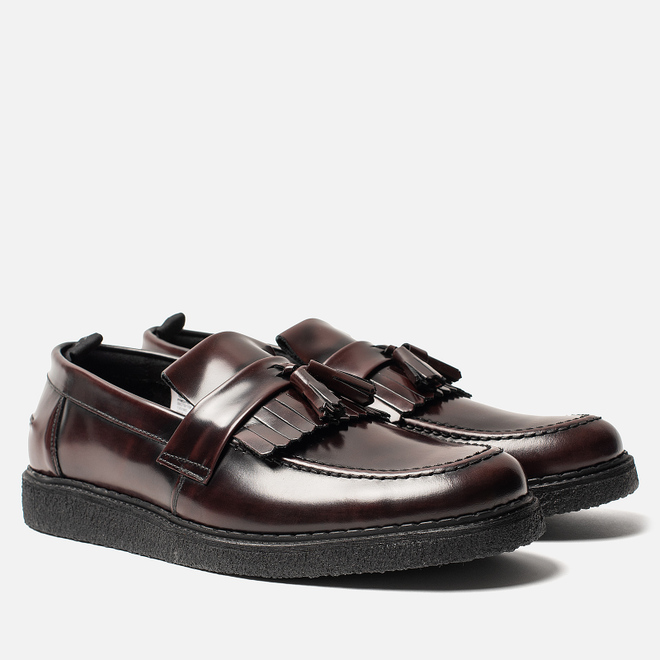 Мужские ботинки лоферы Fred Perry x George Cox Tassel Leather Ox Blood