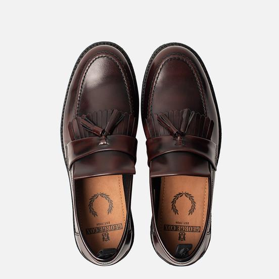 Мужские ботинки лоферы Fred Perry x George Cox Tassel Leather Ox Blood
