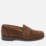 Мужские ботинки лоферы Loake Eton Suede Brown фото- 0