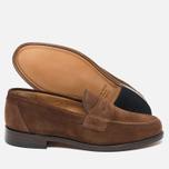 Мужские ботинки лоферы Loake Eton Suede Brown фото- 2