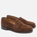Мужские ботинки лоферы Loake Eton Suede Brown фото- 1