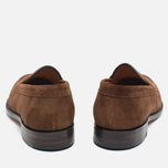 Мужские ботинки лоферы Loake Eton Suede Brown фото- 3