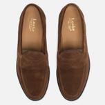 Мужские ботинки лоферы Loake Eton Suede Brown фото- 4