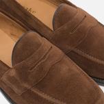 Мужские ботинки лоферы Loake Eton Suede Brown фото- 5
