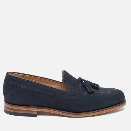 Мужские ботинки лоферы Loake Lincoln Suede Navy