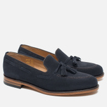 Loake Lincoln Suede Men's Loafer Navy photo- 1