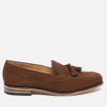 Мужские ботинки лоферы Loake Lincoln Suede Polo Brown фото- 0