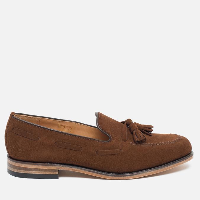 Мужские ботинки лоферы Loake Lincoln Suede Polo Brown