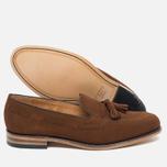 Мужские ботинки лоферы Loake Lincoln Suede Polo Brown фото- 2