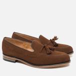 Мужские ботинки лоферы Loake Lincoln Suede Polo Brown фото- 1