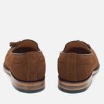 Мужские ботинки лоферы Loake Lincoln Suede Polo Brown фото- 3